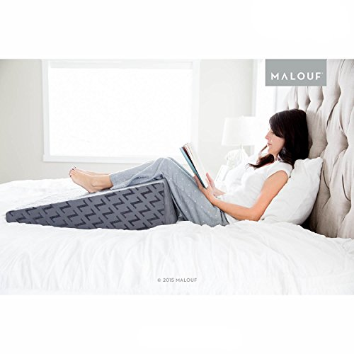 z gelinfused memory foam wedge pillow u2013 therapeutic bed