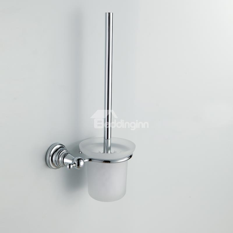 Chrome finish bathroom accessories brass toilet brush rack for Good bathroom accessories
