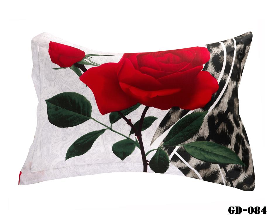 Fancy Vivid Red Roses Print 3d Two Piece Pillowcases
