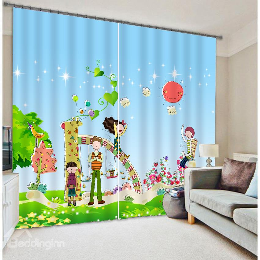 High Quality Kid S Cartoon Print 3d Blackout Curtain
