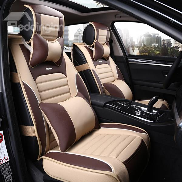 sporty premium leather material comfortable dual color car seat cover feel good mattress. Black Bedroom Furniture Sets. Home Design Ideas
