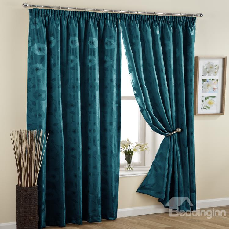 High Quality Graceful Jacquard Double Pinch Pleat Curtain